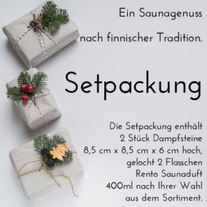 """Setpackung 2 Stück Dampfsteine + 2 Flasschen RENTO Saunaduft """"Original aus Finnland"""""""